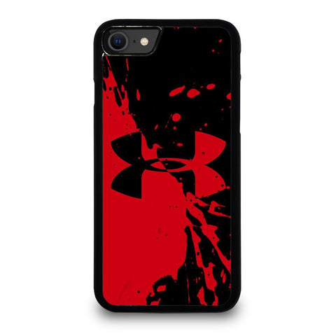 UNDER ARMOUR LOGO RED BLACK iPhone SE 2020 Case Cover