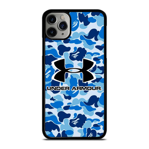 UNDER ARMOUR BLUE CAMO BAPE-iphone-11-pro-max-case-cover