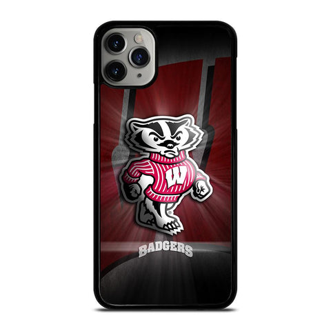 WISCONSIN BADGER LOGO-iphone-11-pro-max-case-cover