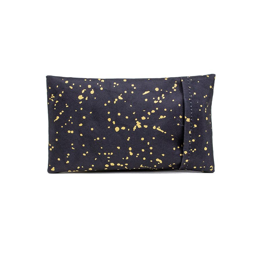 Ice pack-noir gold splatter
