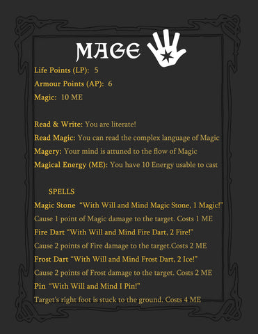 Pre-Made Mage Character