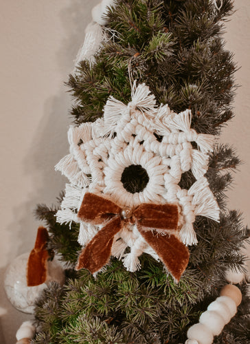 Silk Velvet Snowflake Ornament