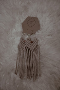Kopper & Fringe Earrings: Large