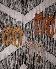 Load image into Gallery viewer, Kopper & Fringe Earrings: Large
