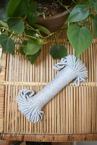 Grey 5mm Cotton Rope