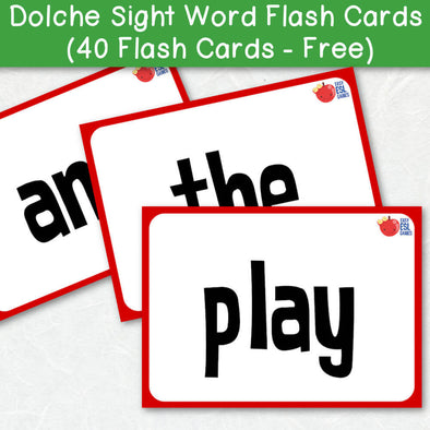 Dolche Sight Word Flash Cards (40 Flash Cards - Free)