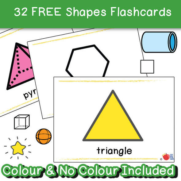 Shapes Flash cards x 32 FREE