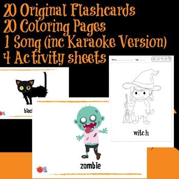 Halloween Resource Pack (with songs, Flashcards and activities)