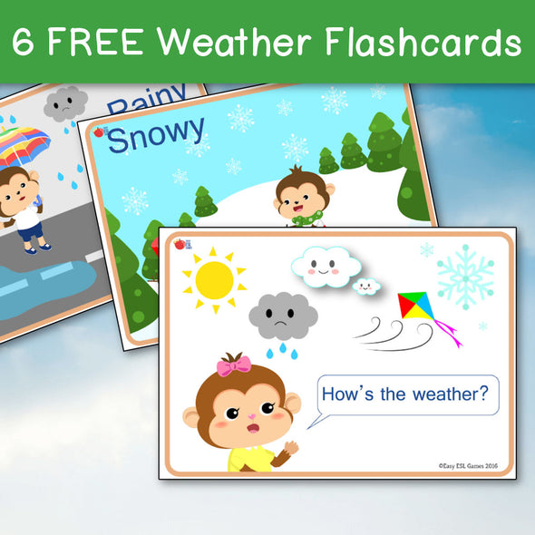Weather Flash Cards (Free)