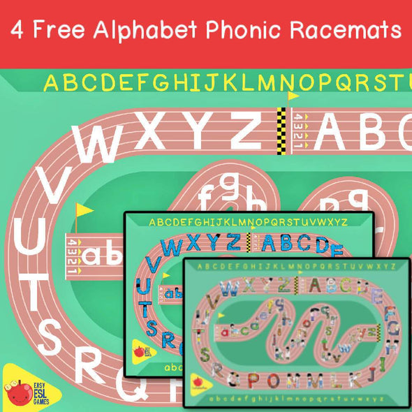 Alphabet Phonic Racemat Game (Free) - Easy ESL Shop