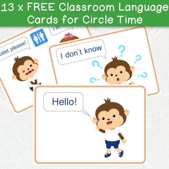 Classroom Language Cards for Circle Time (Free Pack) - Easy ESL Shop