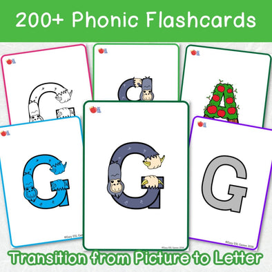 LEEP - Learn Easy English Phonics Flashcards (200+ Flash Cards) - Easy ESL Shop