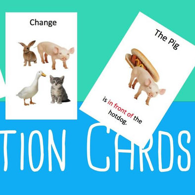 Preposition Card Game - Easy ESL Shop