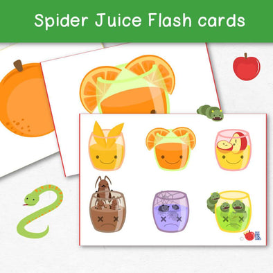 Spider Juice Flash cards - Easy ESL Shop