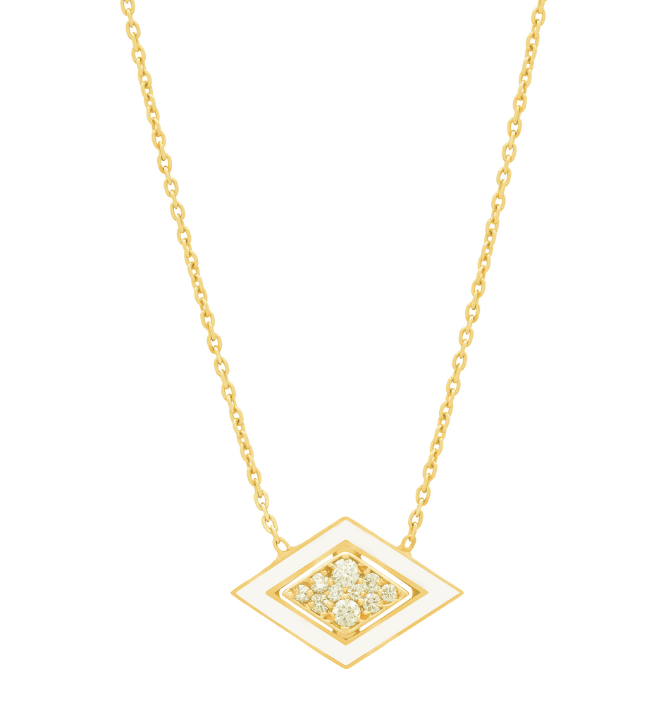 Imtinan Necklace with Diamonds and Enamel .