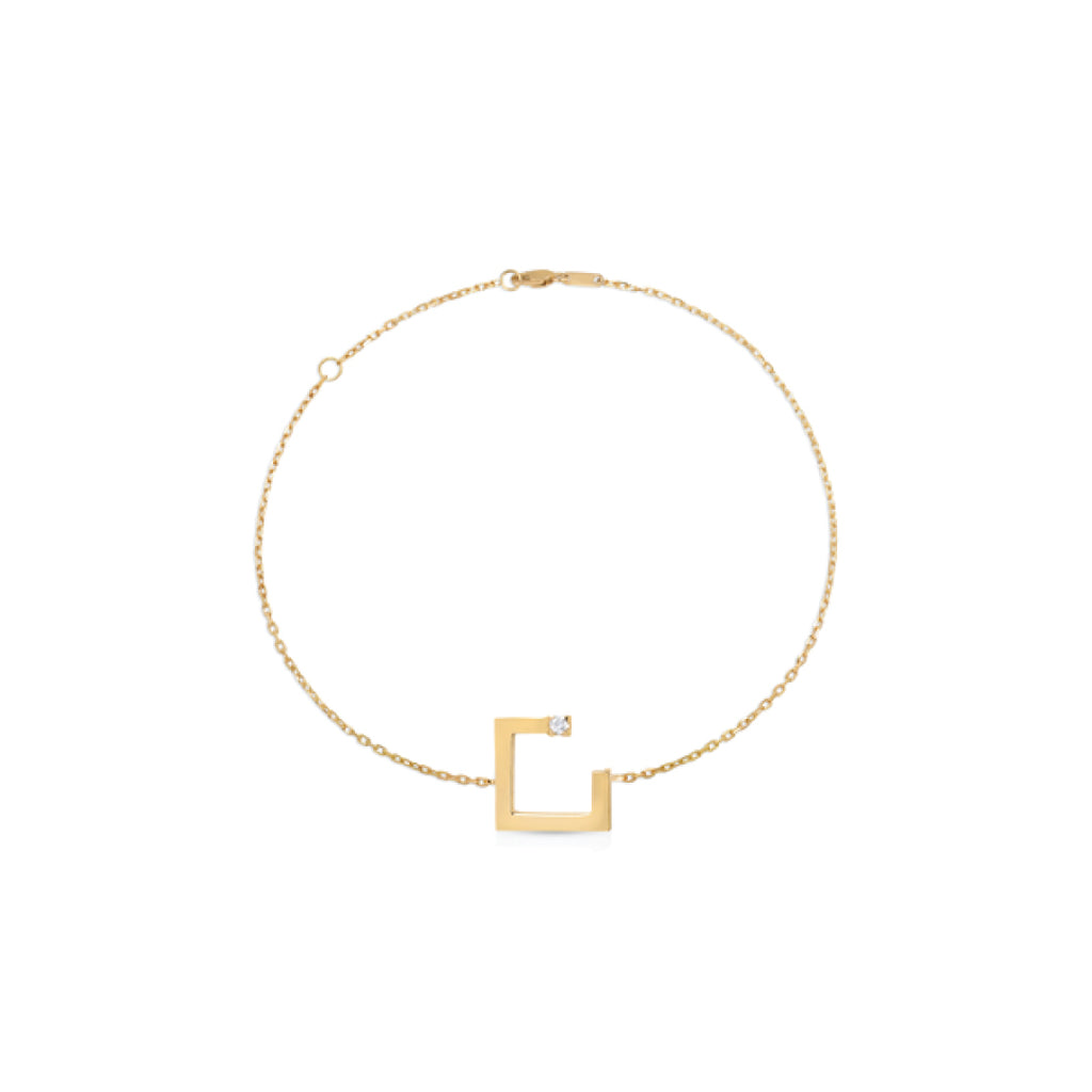 Copy of Arabic Alphabet Letter Bracelet (ن)
