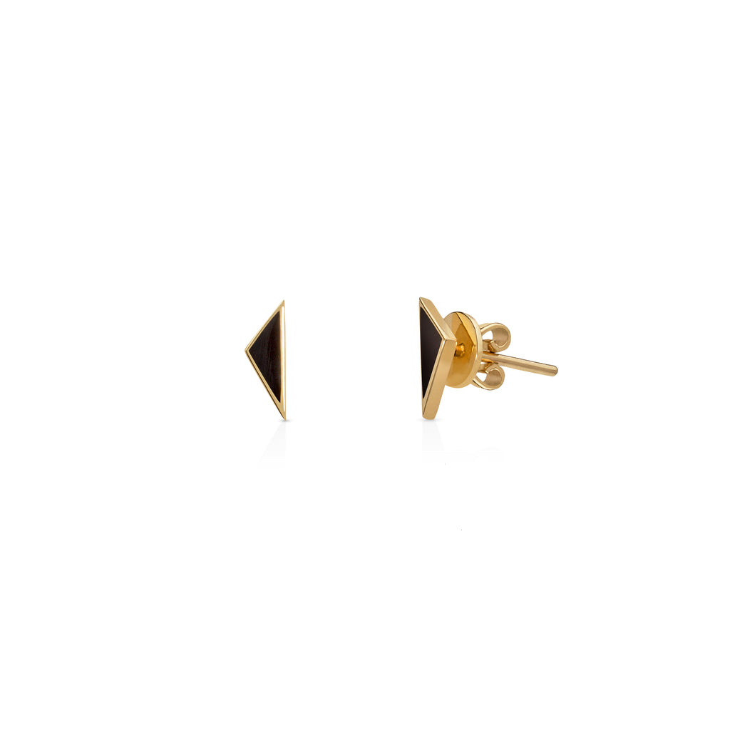 A pair of Earrings - Black Enamel
