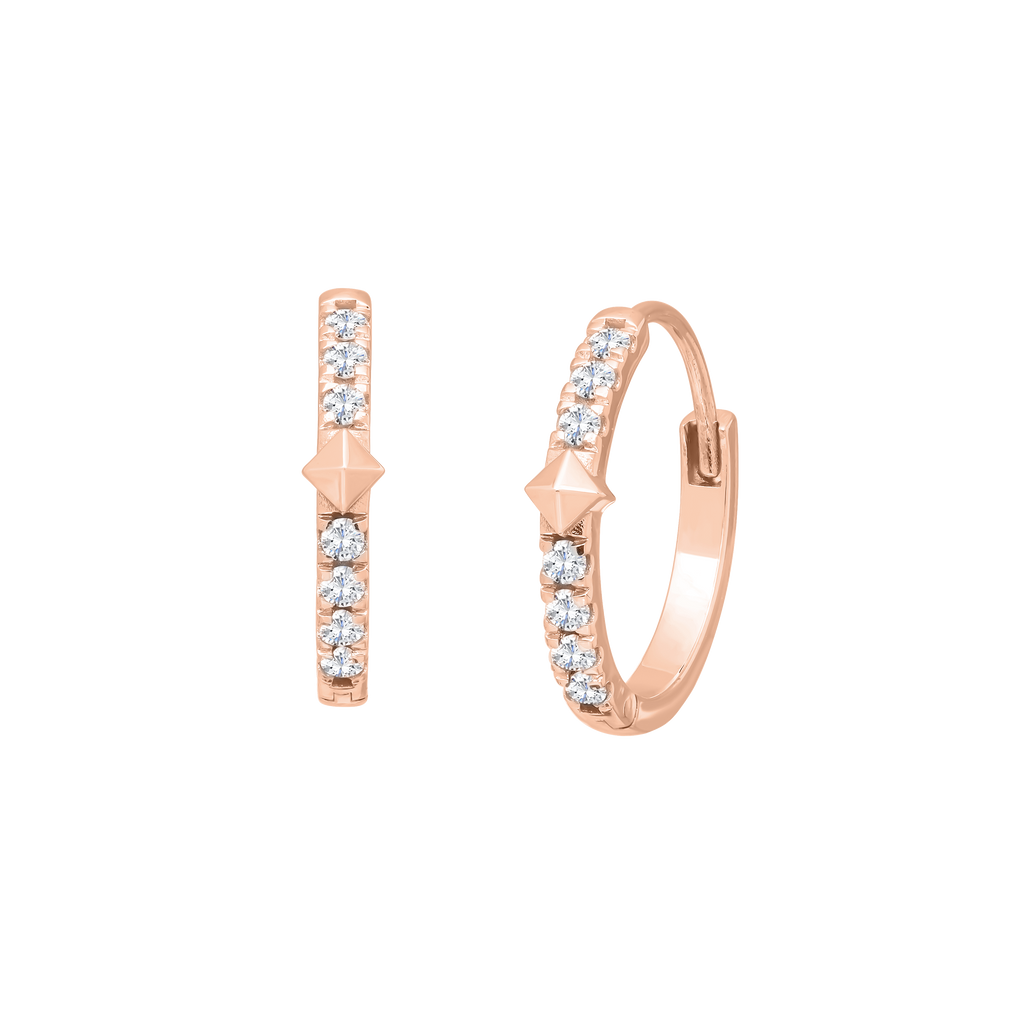 Tennis Earrings Gold with Diamonds