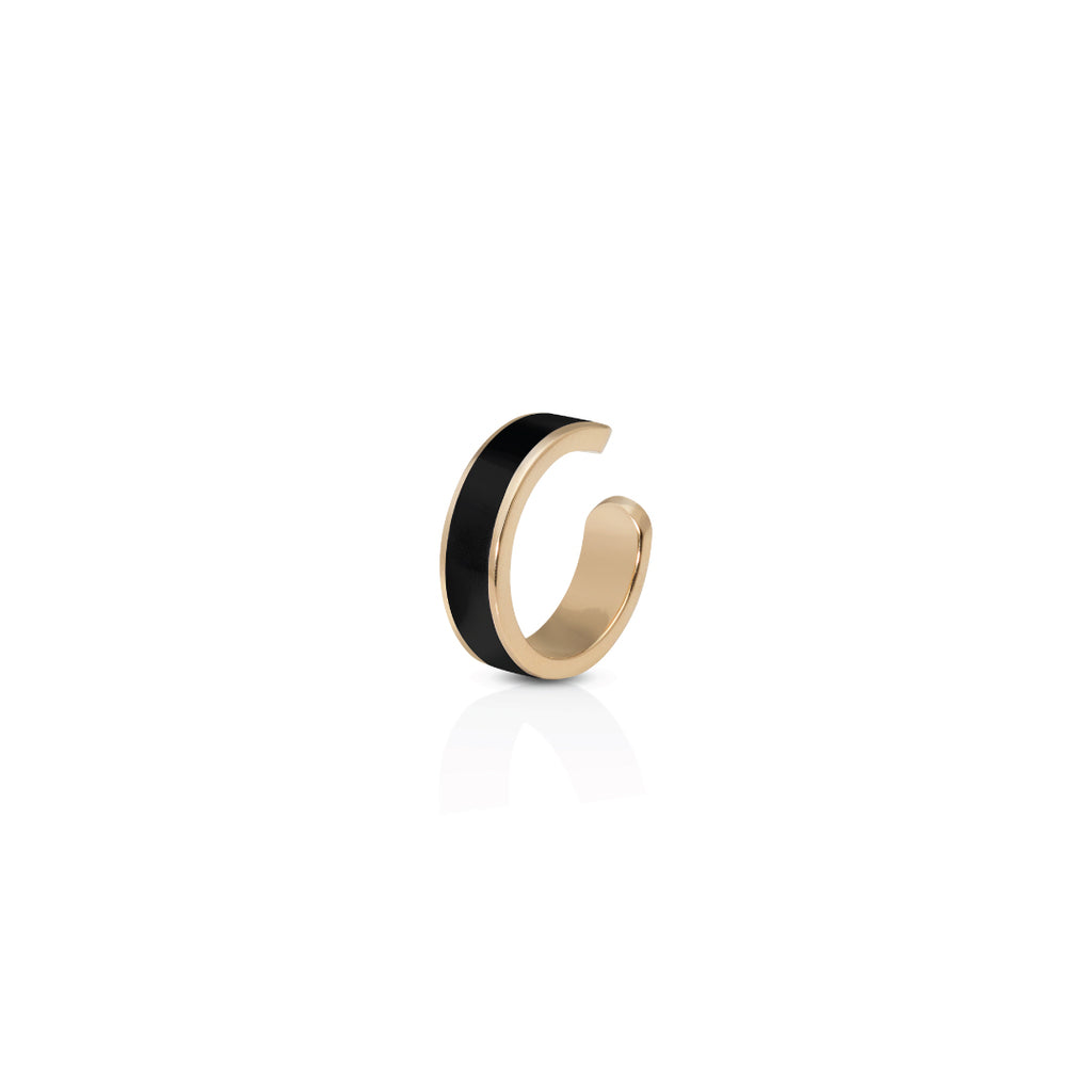 Enamel Cuff Earring - Black
