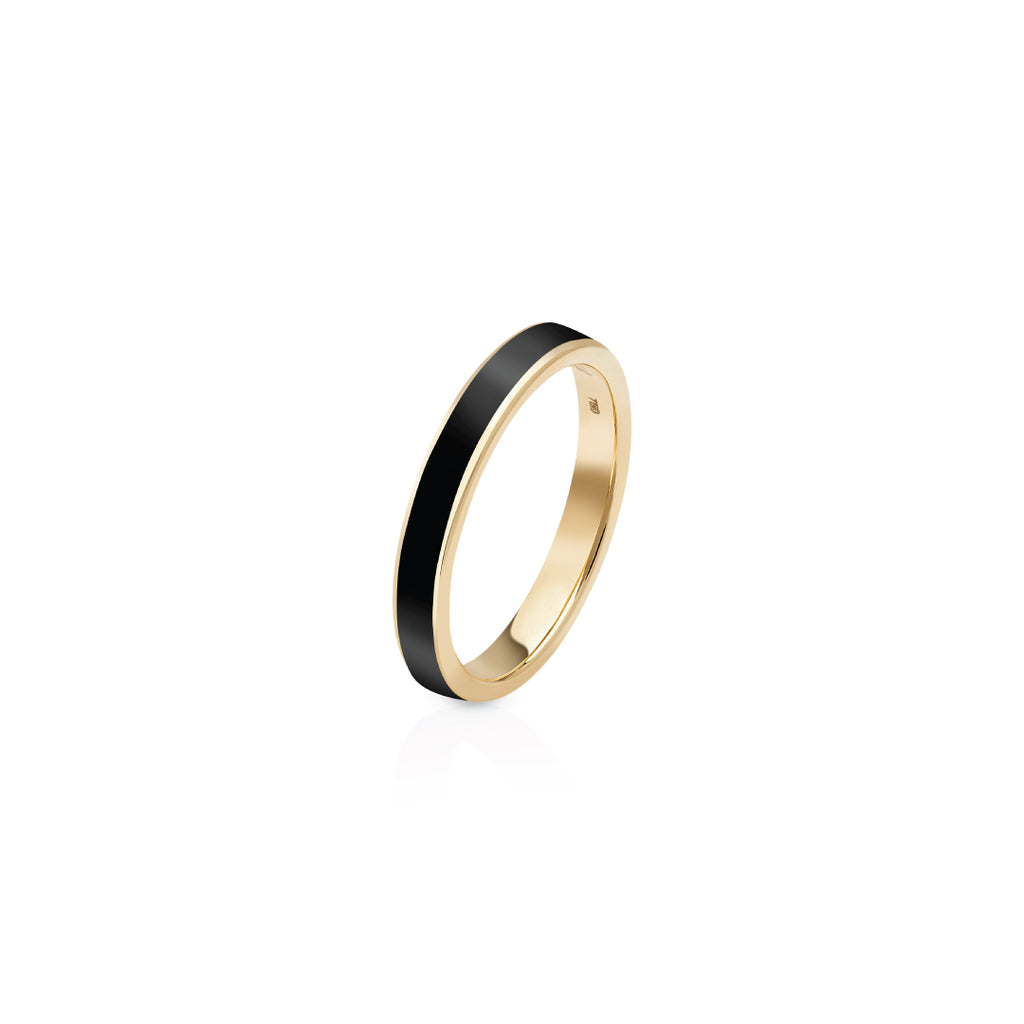 Enamel Ring - Black