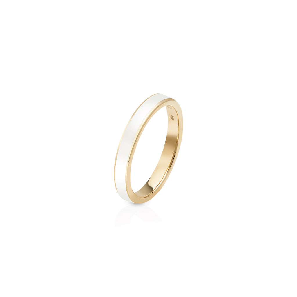 Enamel Ring - White