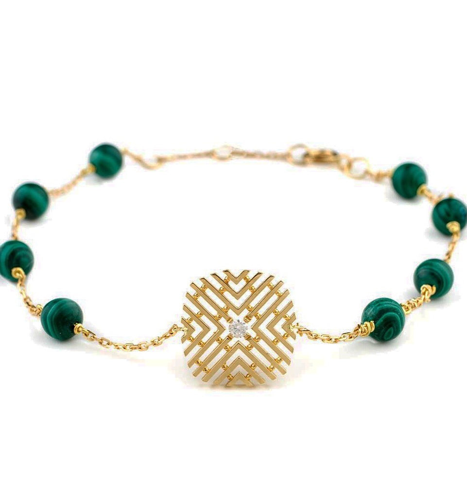 Passion Bracelet with Diamond & Malachite