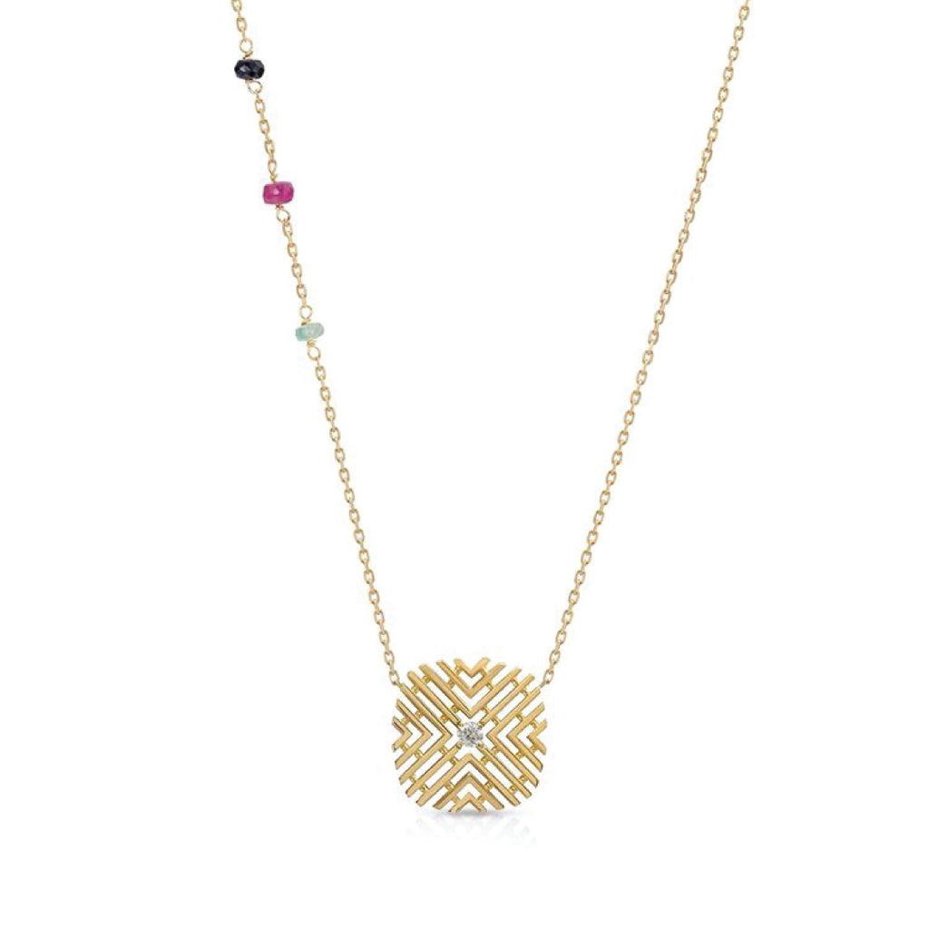 Passion Necklace with Diamond & Gems stones
