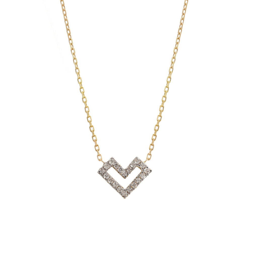 Heart Of Gold Diamonds Necklace