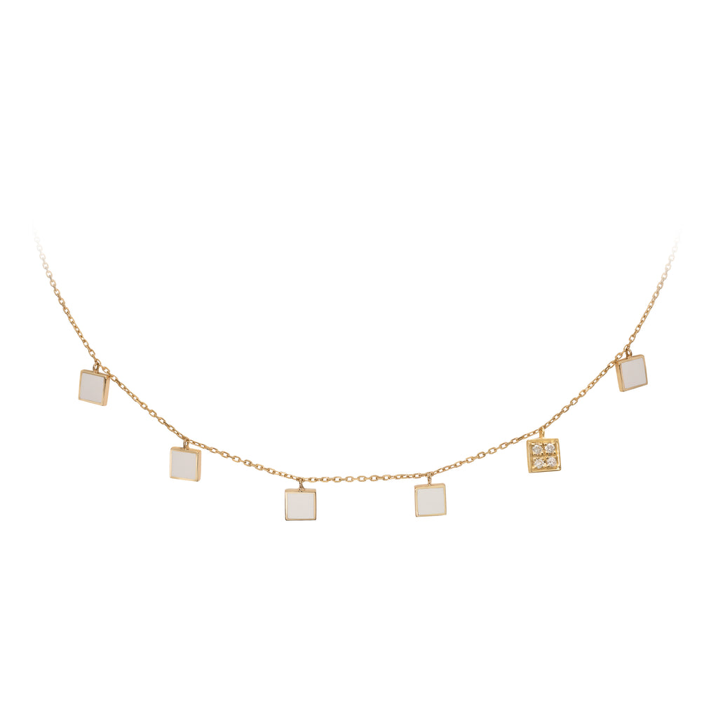 Geometric Choker with Diamonds - Squares