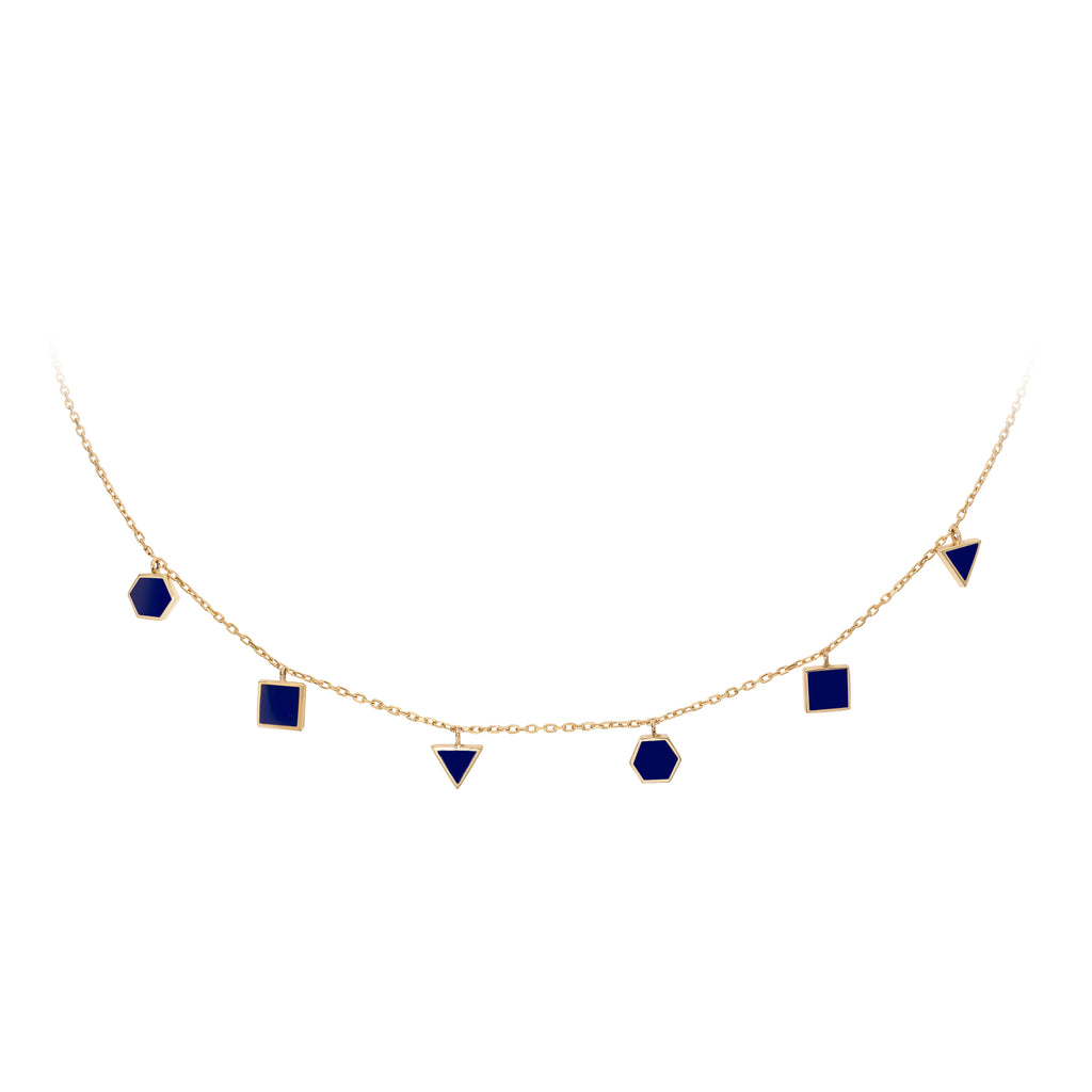 Geometric Choker  - Royal Blue