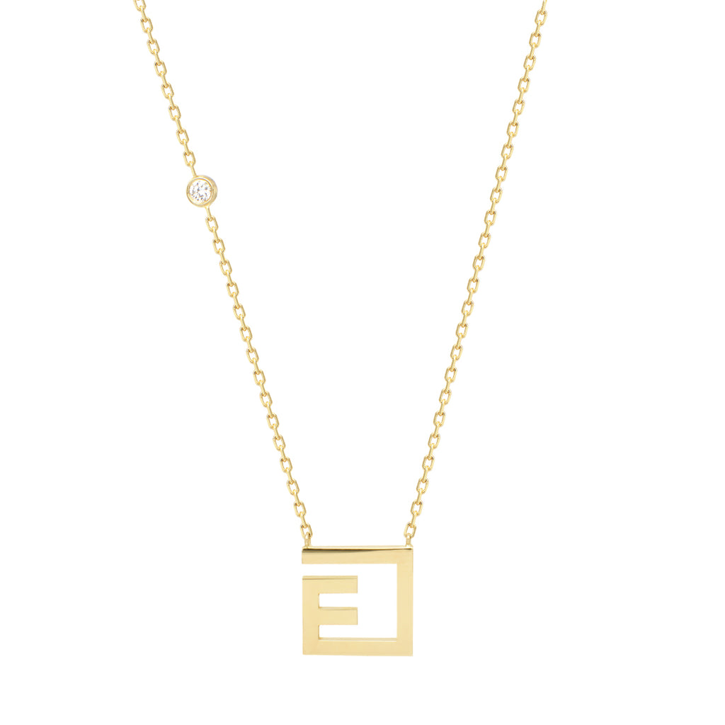 Arabic Alphabet Letter Necklace (ع)