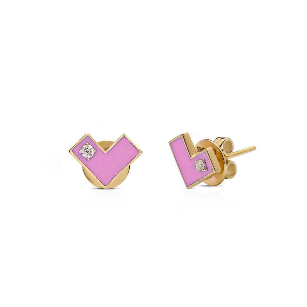 Heart Of Gold Earring Pink
