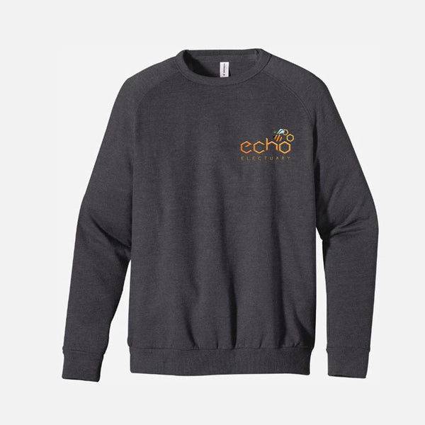 Embroidered Slate Grey Echo Electuary Crew Pullover