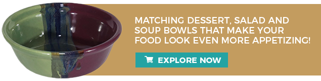 MATCHING DESSERT, SALAD AND SOUP BOWLS THAT MAKE YOUR FOOD LOOK EVEN MORE APPETIZING!