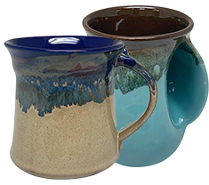 STUNNING HANDMADE MUGS WITH STURDY HANDLES AND VARIOUS SHAPES
