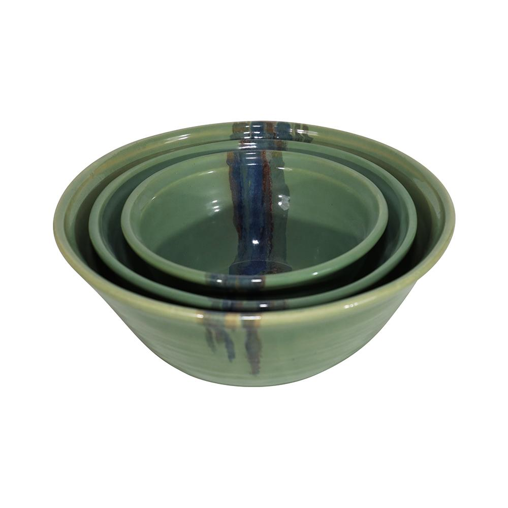 Handmade Ceramic Nesting Bowl Set-7