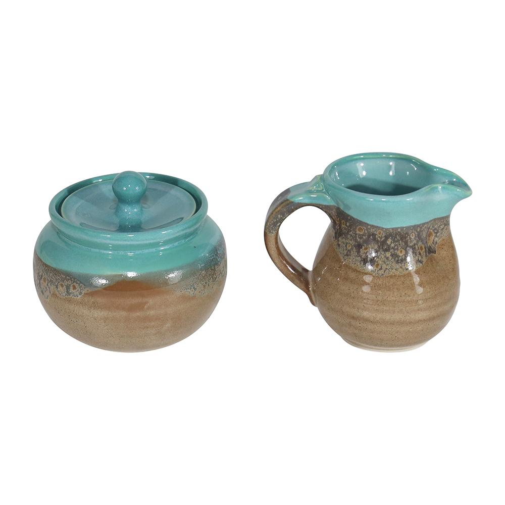 Handmade Ceramic Cream & Sugar Set
