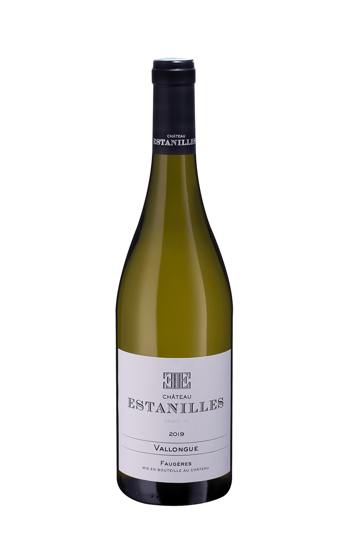 Chateau Estanilles, Vallongue Blanc, achat, buy,   AOP Faugères, grand vin, Languedoc, vin bio, biodynamie, boutique, officielle