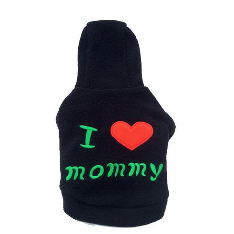 Cute I LOVE mommy pet cat dog Sweater Hoodie