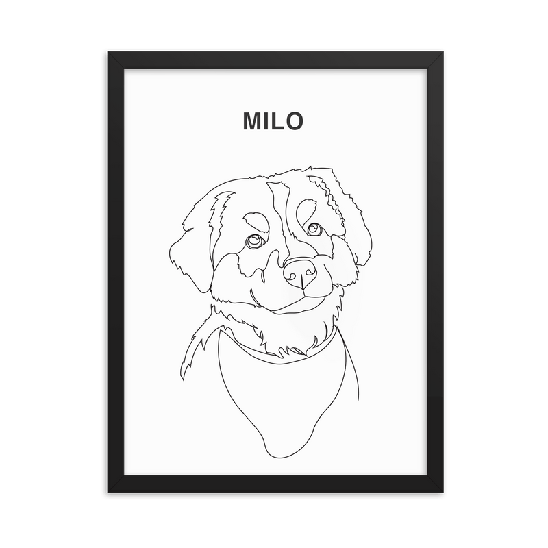 Bunny Portrait Personalised Cat 8 inches Dog