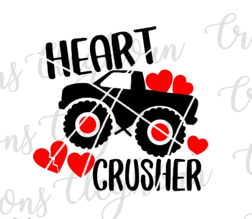 heart crusher valentine monster truck