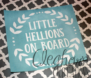 Little Hellions on Board- Car Decal