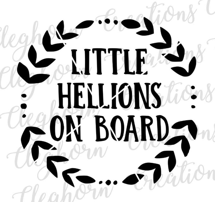 little hellions on board svg, car decal svg,