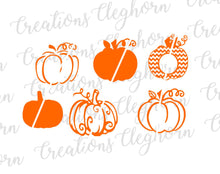 Load image into Gallery viewer, fall svg, halloween svg, pumpkin silhouette, pumpkin clipart, pumpkin vector