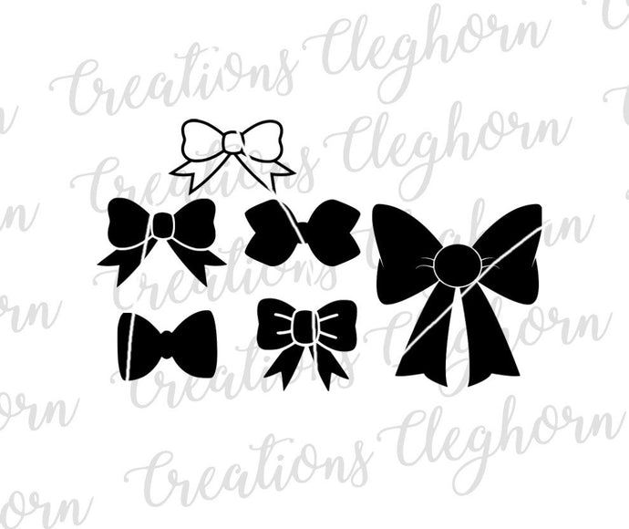 bow silhouette svg cut file
