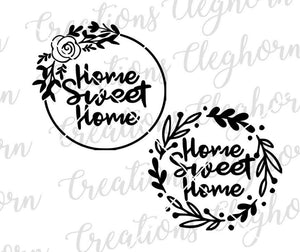 home sweet home decor svg
