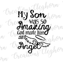 Load image into Gallery viewer, rip son, in memory of son, my son was so amazing, memorial svg