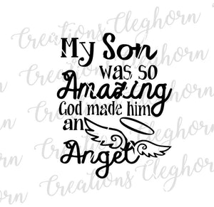 rip son, in memory of son, my son was so amazing, memorial svg