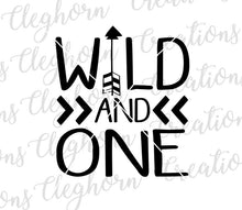 Load image into Gallery viewer, wild and one, tribal arrow birthday svg
