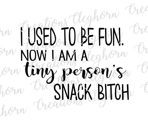 used to be fun, now I'm a tiny person's snack bitch, funny mom humor
